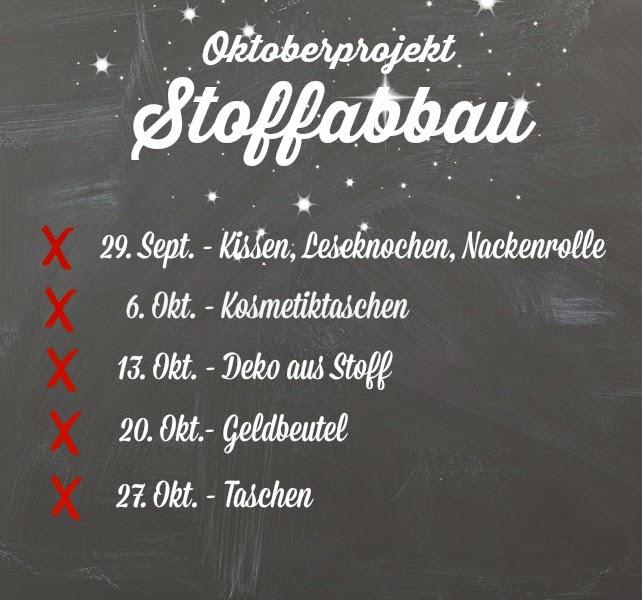 Stoffabbau im Oktober