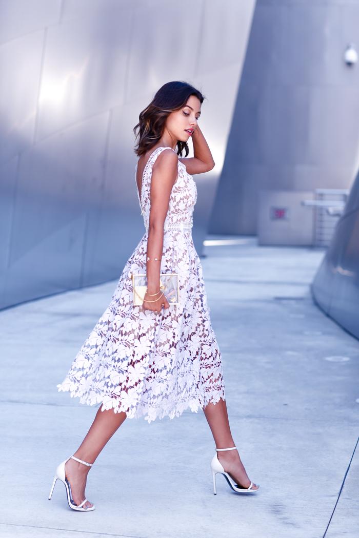 SELF PORTRAIT Guipure lace dress