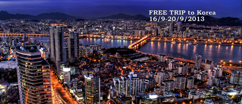 Melancong free ke Seoul, Korea pada 16-20 September 2013