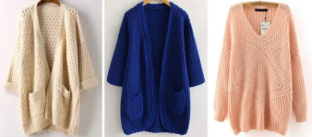 Piękne i ciepłe sweterki/cardigany od SheIn.