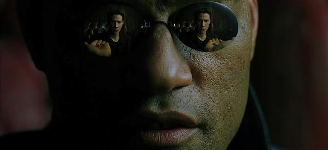 Matrix, Neo e Morfeu, pilula vermelha e azul