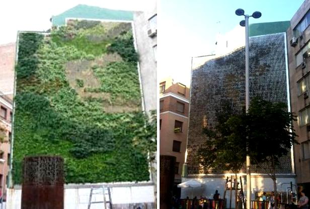 Pasi n por madrid jardines verticales madrile os for Edificios con jardines verticales