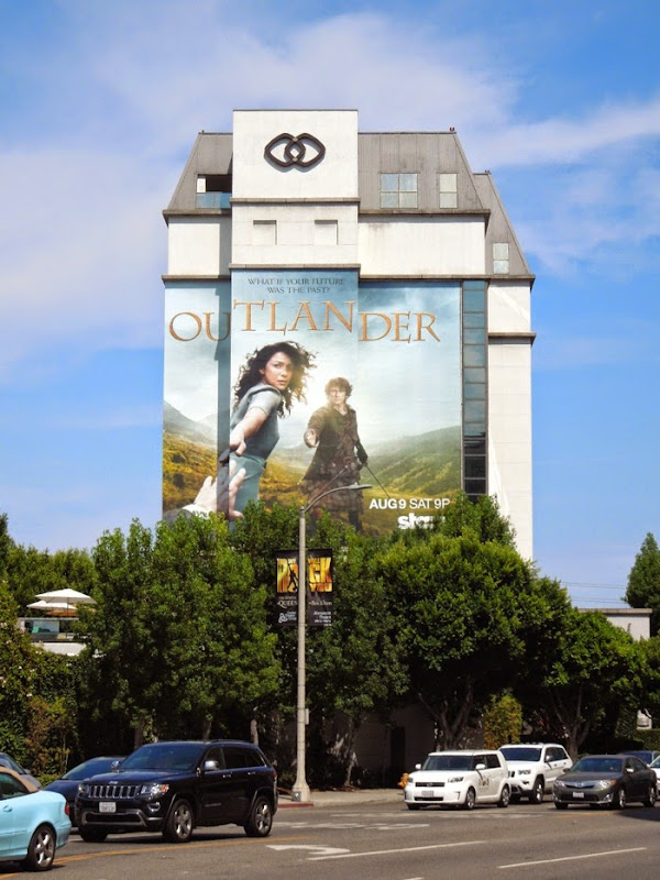 Giant Outlander series premiere billboard