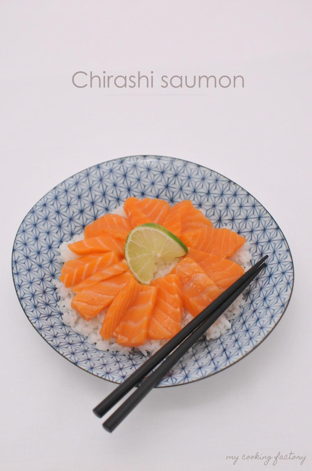 my cooking factory un chirashi au saumon hyper facile. Black Bedroom Furniture Sets. Home Design Ideas