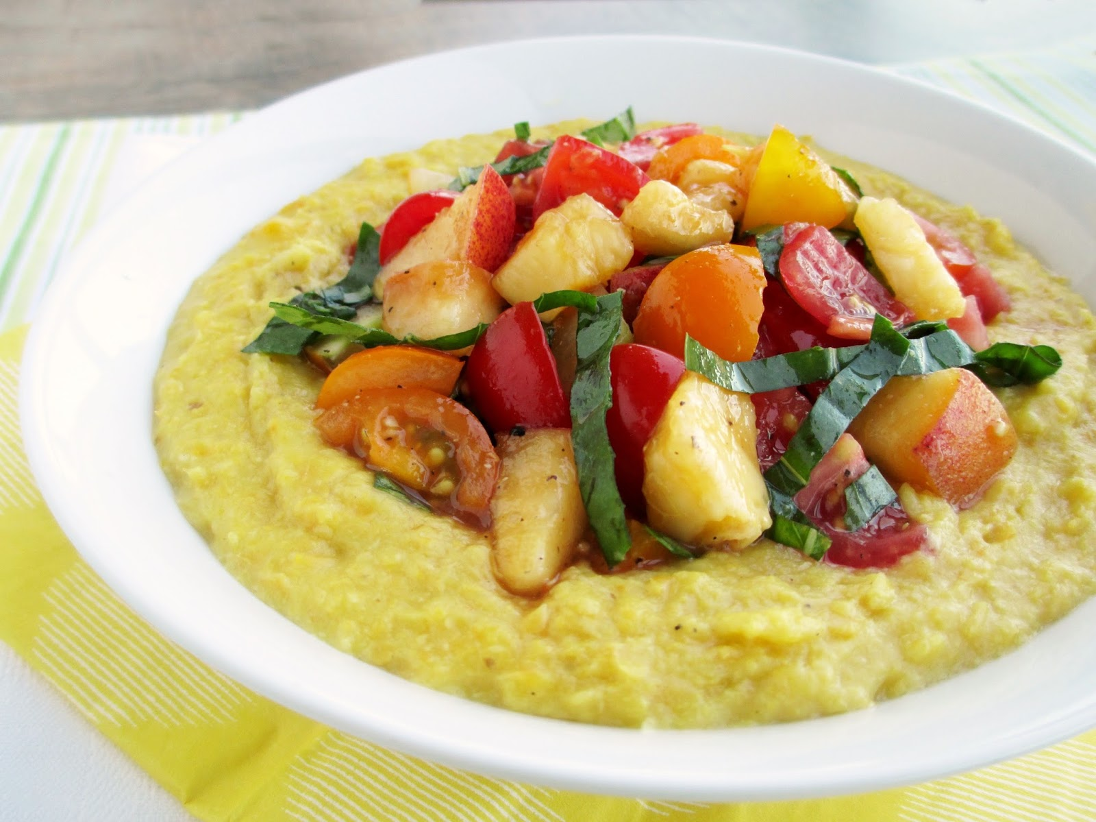 Polenta With Corn And Thyme Recipe — Dishmaps
