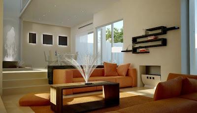 Decoraci n minimalista y contempor nea elegante espacio for Muebles minimalistas para casas pequenas