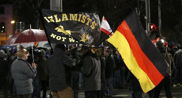 Disturbios en Alemania durante marchas fascistas contra refugiados