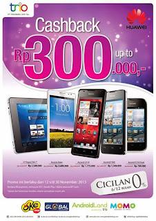 Promo Huawei Cashback Sampai Rp 300.000