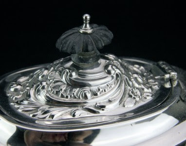 ANTIQUE 20thC EDWARDIAN SOLID SILVER 3 PIECE TEA SET, ASPREY & CO LTD c.1902