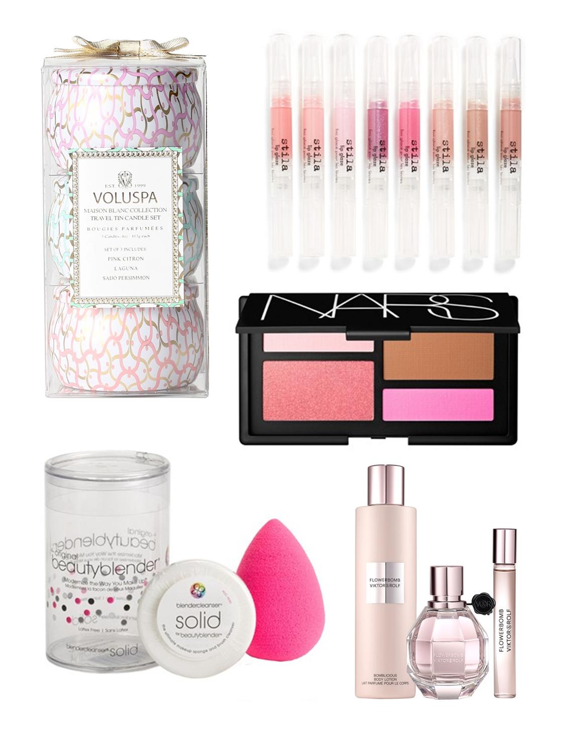 Anniversary Sale, NARS, Stila, Beauty Blender, Voluspa, Flowerbomb