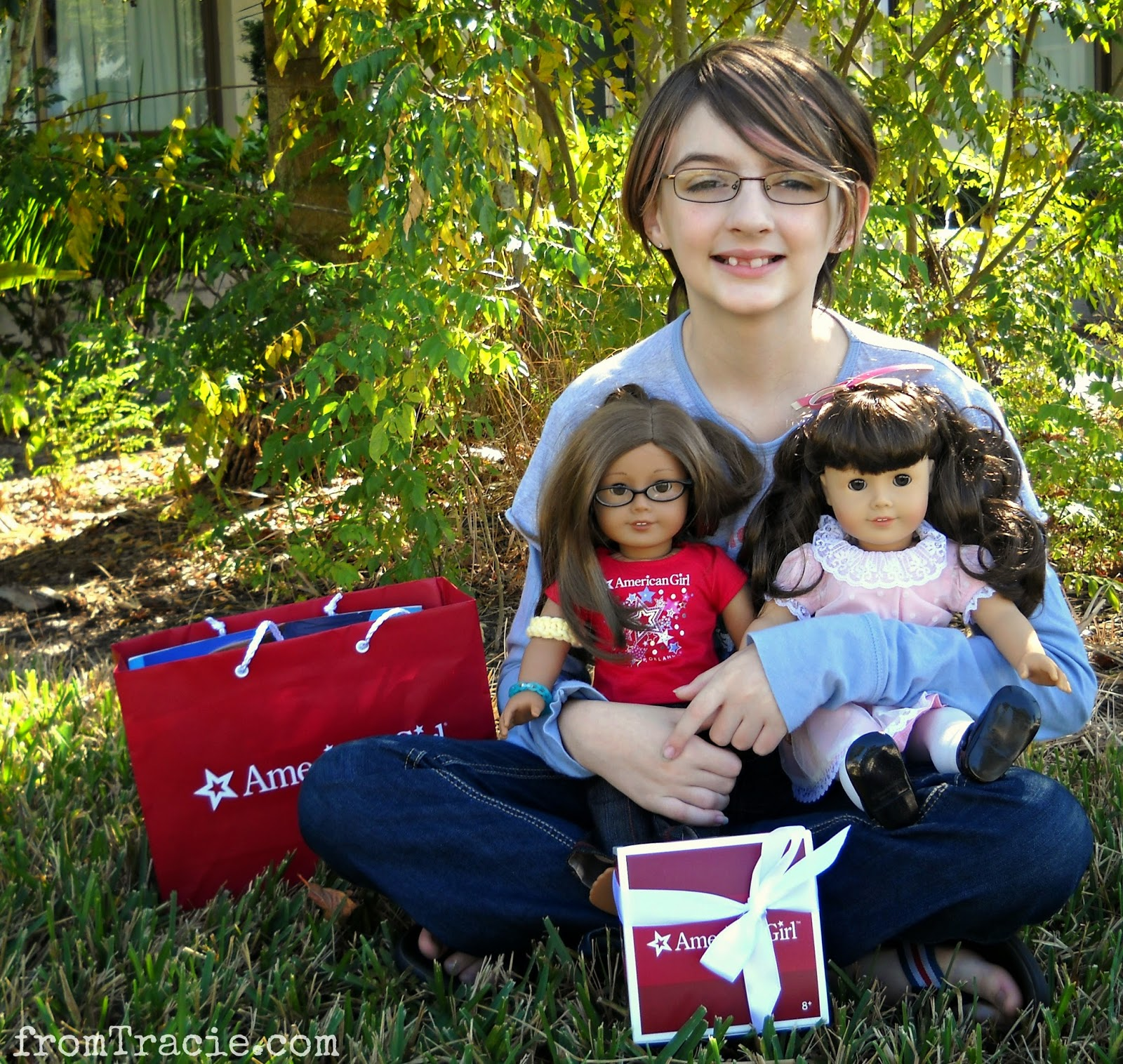 Katarina with American Girl Dolls