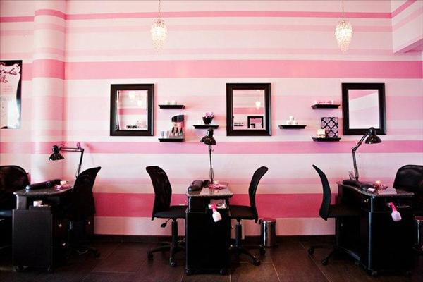 Benedetina beauty salon decorating ideas for Salon decor