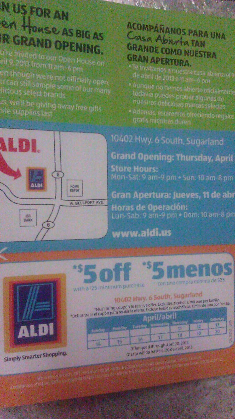 Aldi money off coupons