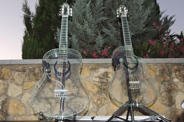guitarras de vidrio