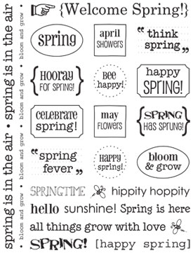 SRM Stickers Blog - Spring Card by Cassonda - #card #spring #twine #stickers #kraftbagembossed #clearstamp #janesdoodles