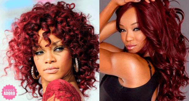 Como se tornar negra do cabelo afro vermelho (ruivo) - Rihanna