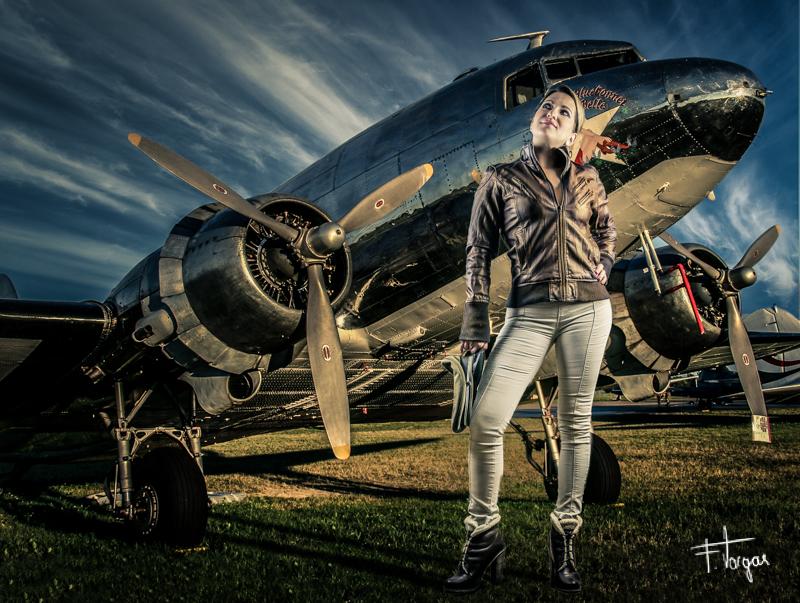 Aviator girl - técnicas de fotografía - DC3