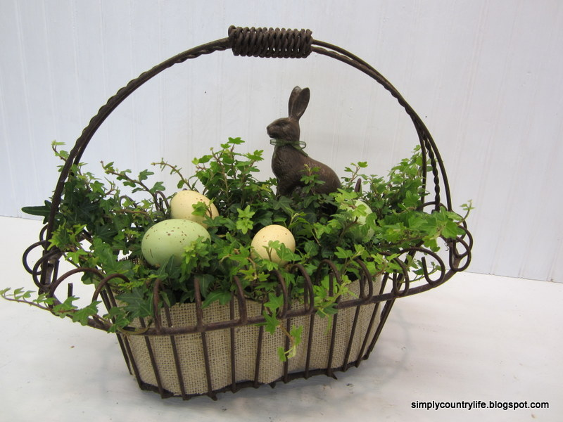Simply country life easter planter centerpiece another idea inspired by martha stewart negle Gallery
