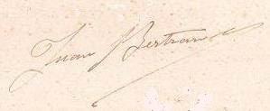 Firma de Juan Bertrán i Casals