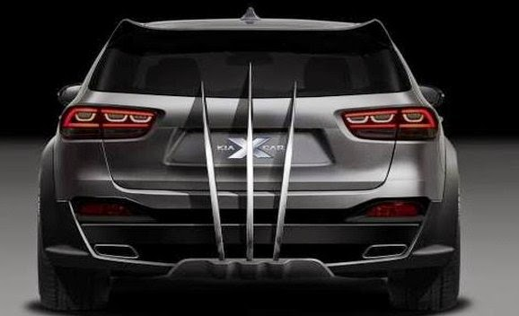 2016 Kia Sorento X-Men rear view