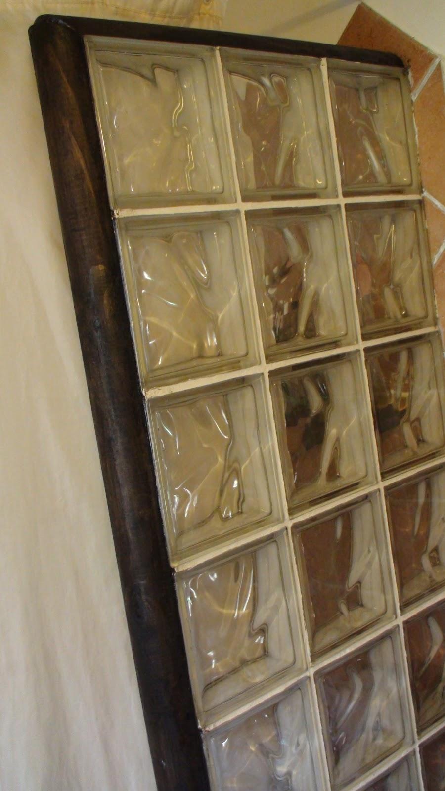 El bricolaje en tus manos pared de bloques de vidrio con perfil de madera de media ca a - Pared de bloques de vidrio ...