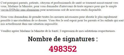 La pétition du professeur Joyeux contre la vaccination forcée fait grincer des dents les médias et la ministre de la santé P%25C3%25A9tition
