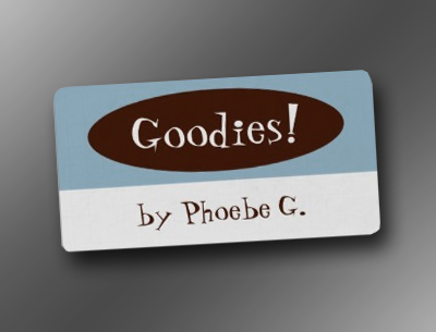 Goodies Blue and Brown Kitchen Labels