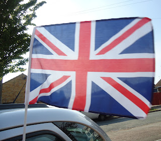Union Jack on the Car