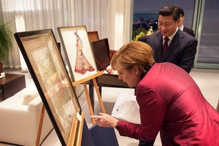 Tấm bản đồ Đức tặng Trung Quốc