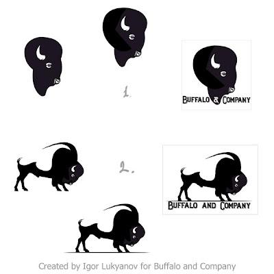 dessin logo bison
