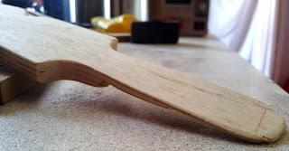 Manche en bois sans le cuir autour