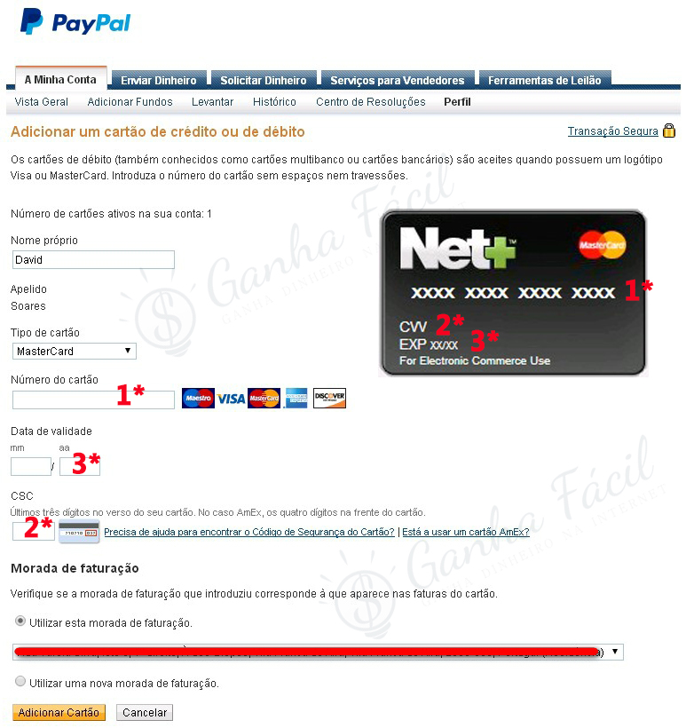 paypal net+ neteller verified verificar conta account card cartão