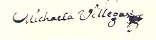 Firma de la Perricholi