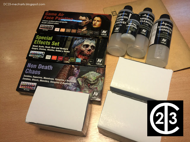 NEW Acrylicos Vallejo Metal Colors and Angel Giraldez paint setsphoto