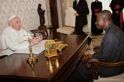 Pictures | President Goodluck Jonathan Meets Pope Francis In Vatican