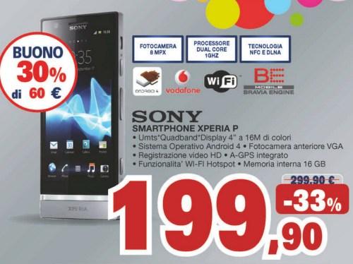 Ottimo prezzo e bonus spesa di ben 60 euro sul Sony Xperia P in promozione dal 10 al 22 maggio 2013