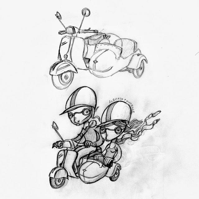 Alberto Poucelle ilustrador illustration cars kids hand gothic vintage