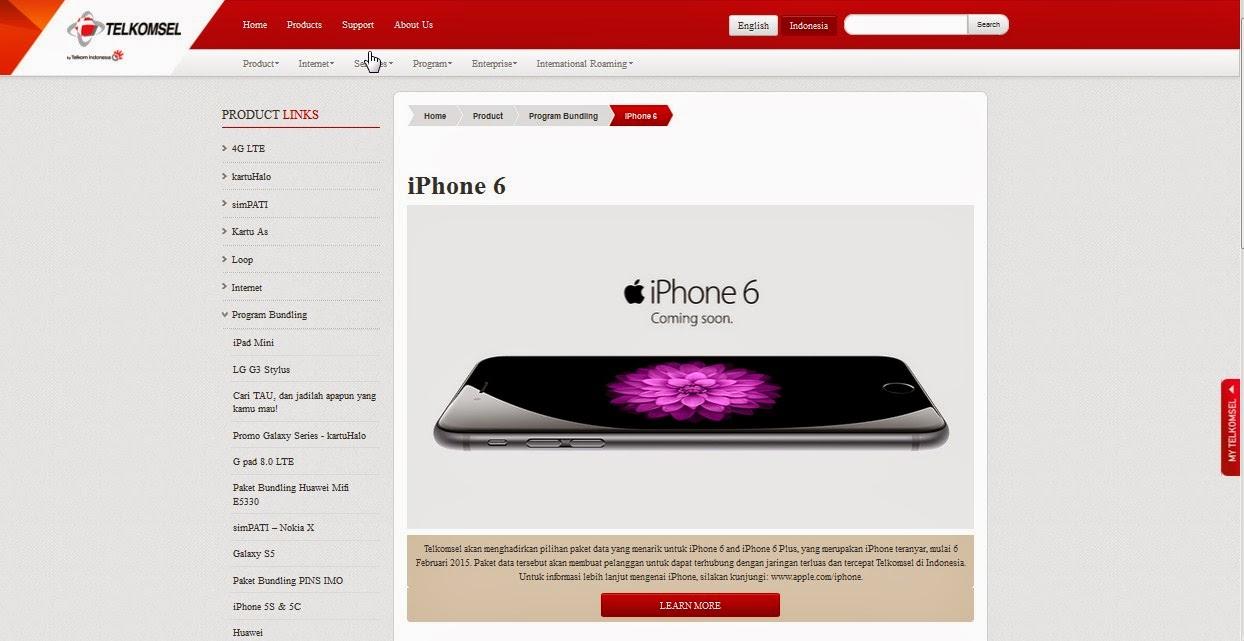 Telkomsel : iPhone 6 Masuk Indonesia Awal Februari