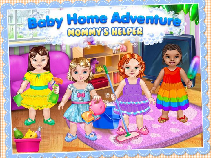 Baby Home Adventure - Mommy's Little Helper App iTunes App By Kids Fun Club by TabTale - FreeApps.ws