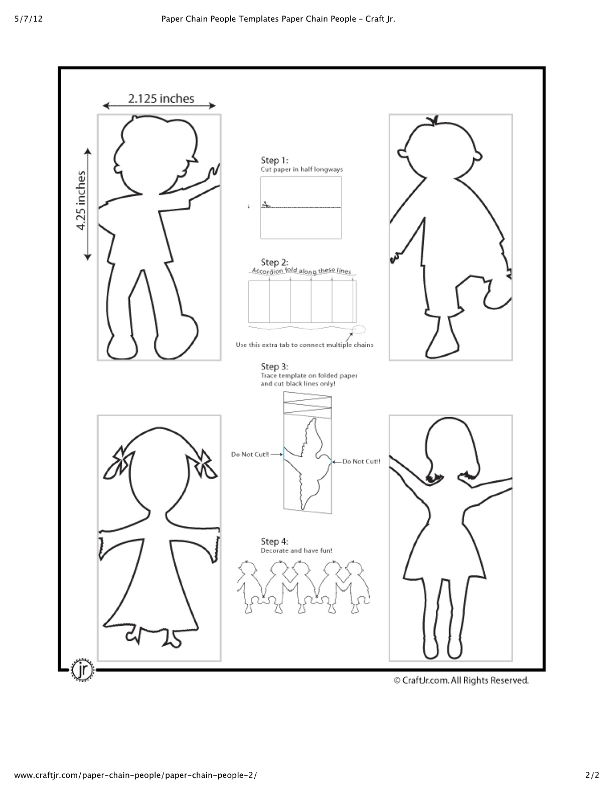 Paper Chain People | DIY Crafting Fun