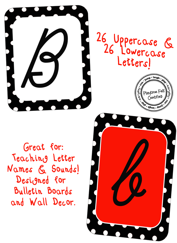 http://www.playtimefelts.com/store/p26/Cursive_Alphabet_Set_with_Black_Boarder_and_Polka_Dots_Resell_Rights.html