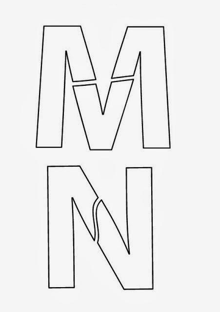 Moldes de Letras MN