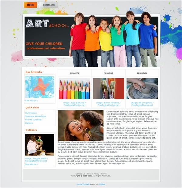 Art School - Free Joomla! Template
