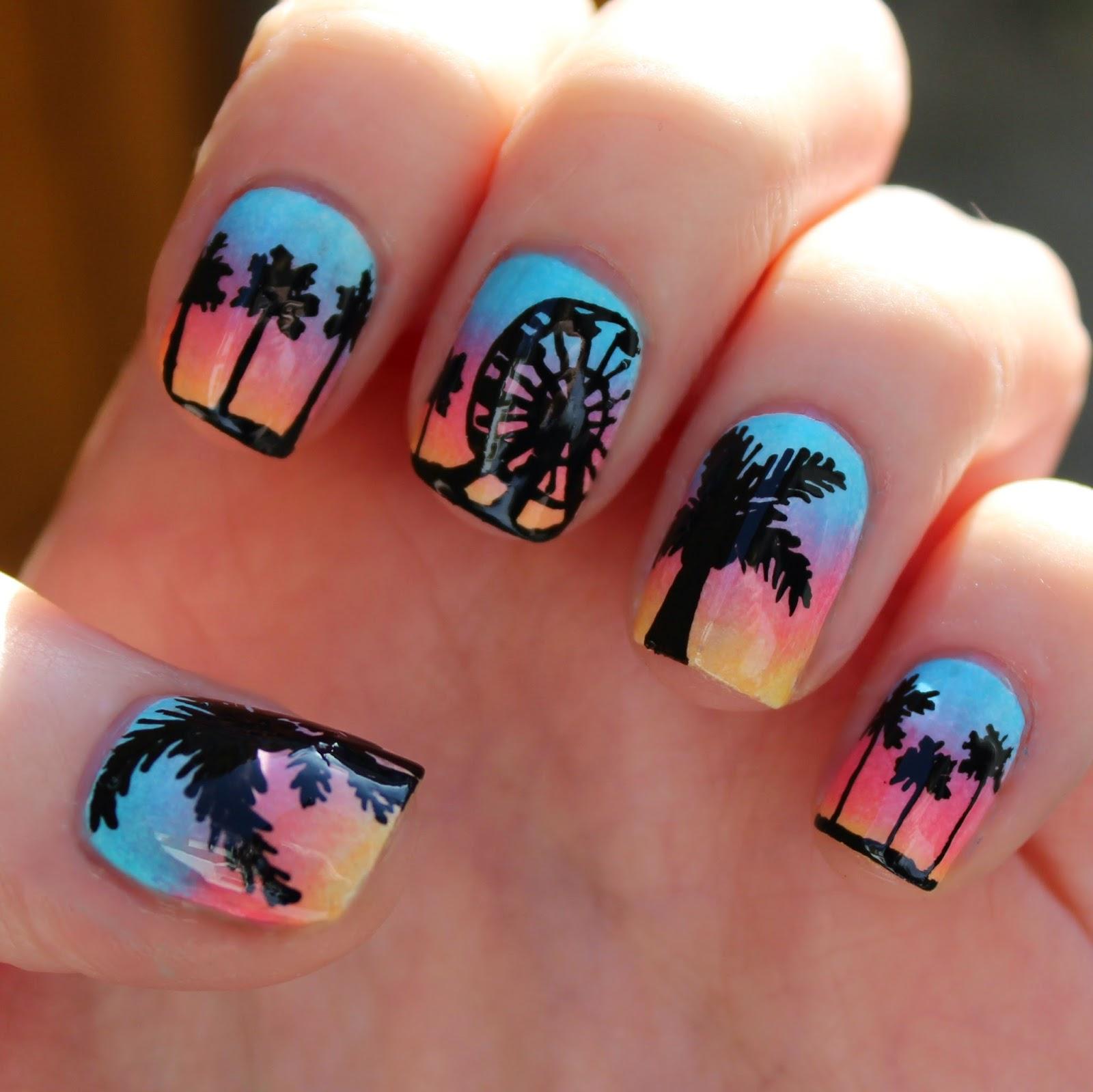 Dahlia Nails Ravenclaw Nail Art: Dahlia Nails: Coachella Nail Art