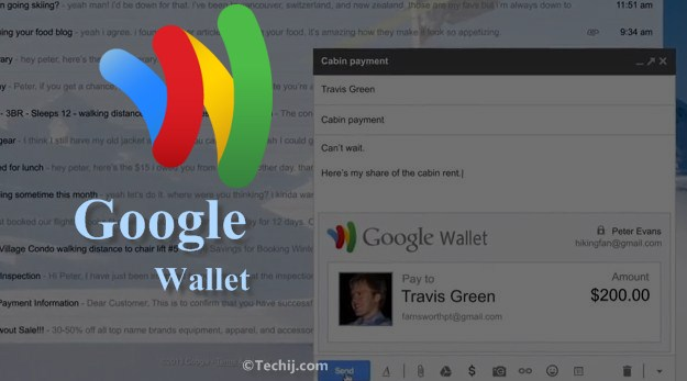 send money through gmail via Google Wallet