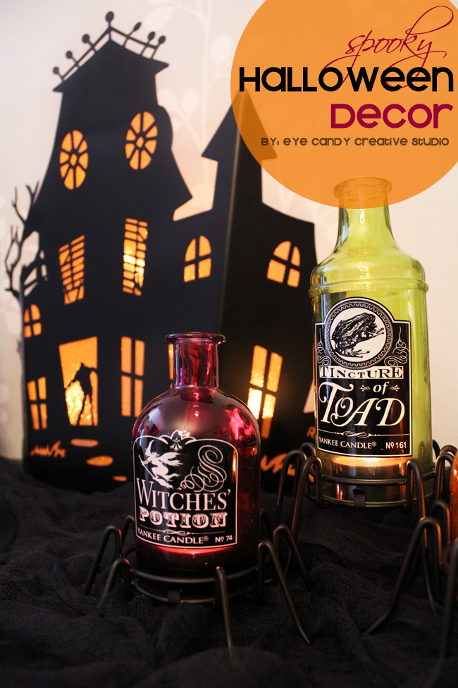 spooky halloween decor, halloween home decor, haunted house, potion