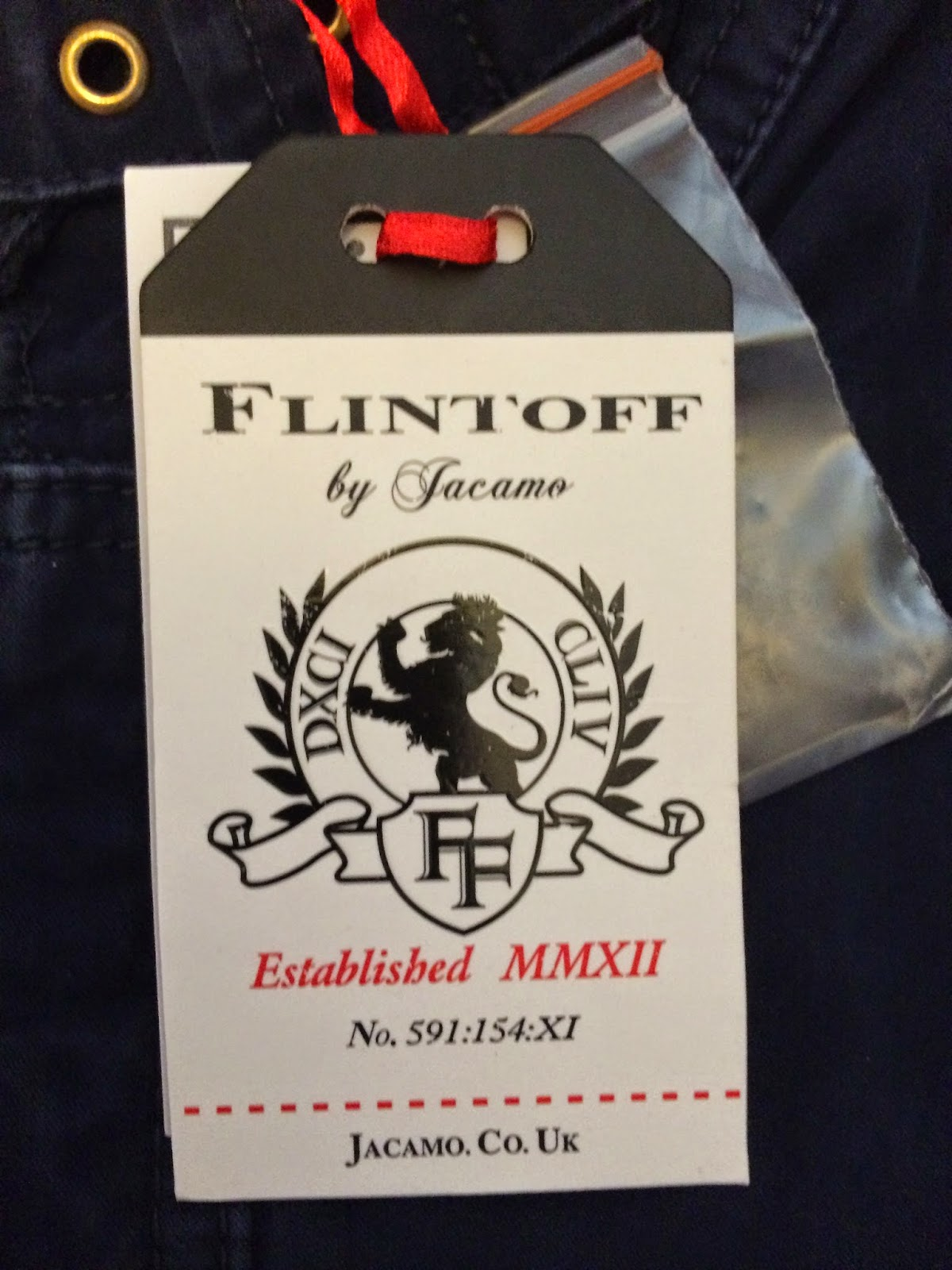 label from Flintoff collection at jacamo
