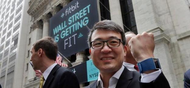 Las pulseras Fitbit en la bolsa de Nueva York, Wall Street