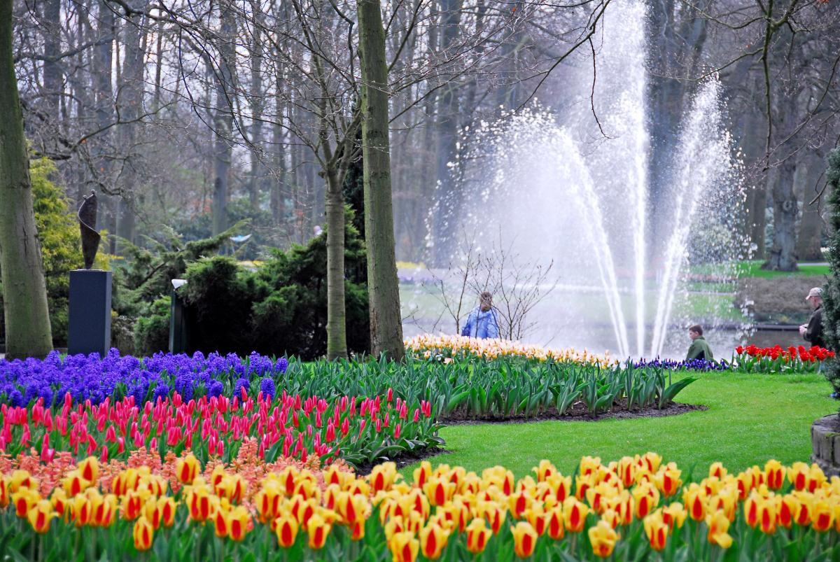Curiosidades del mundo parque keukenhof holanda for Jardin keukenhof