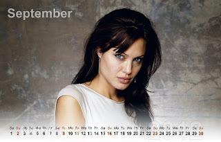 Angelina Jolie Calendar 2012 New Year 2012